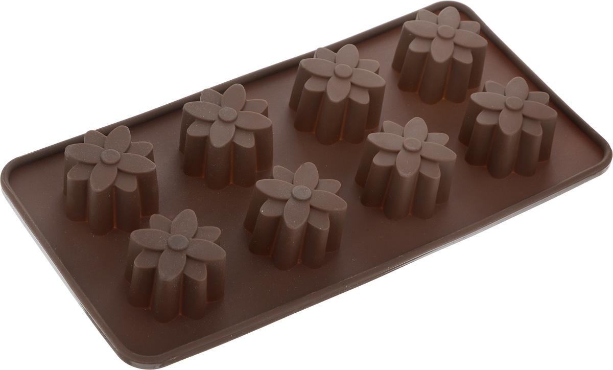 Форма для выпечки Mayer & Boch Choco freeze, силиконовая, 8 ячеек силиконовая форма для изготовления шоколада mayer