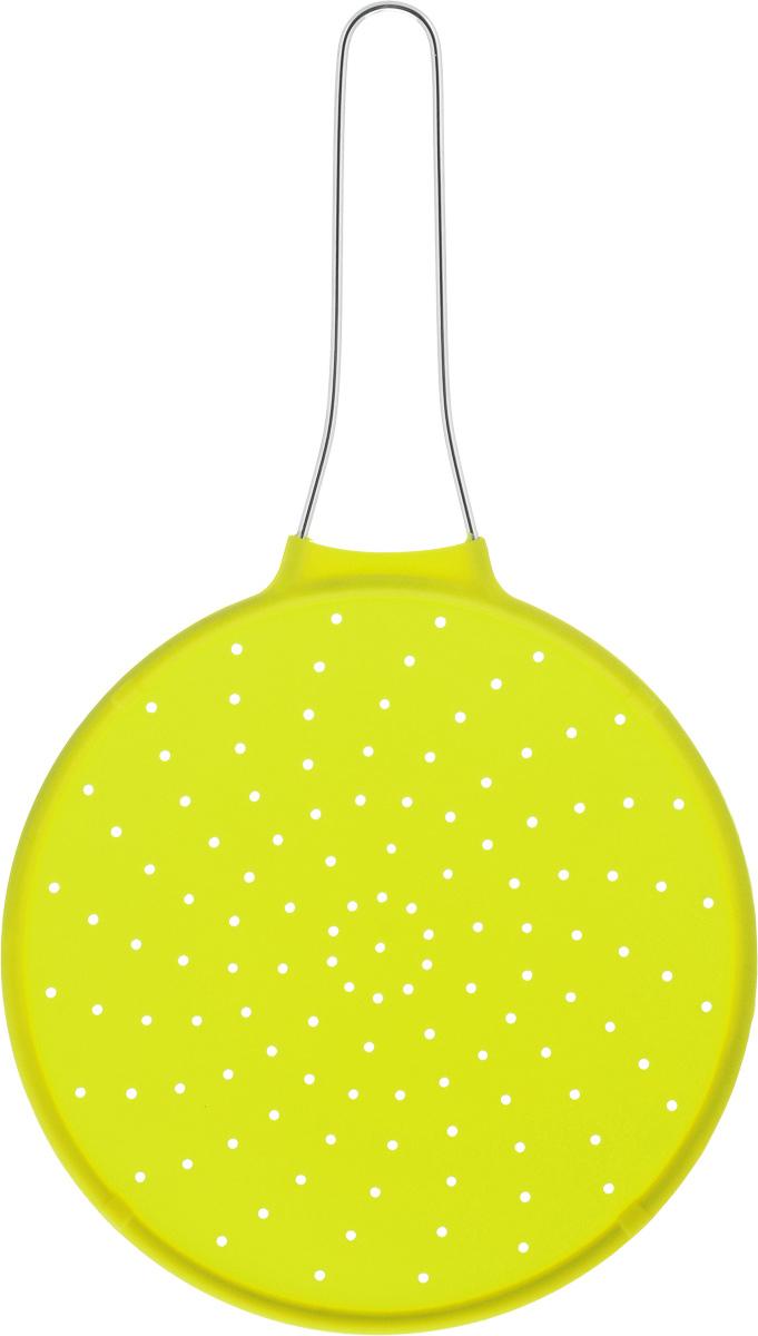 Экран от брызг Mayer & Boch, цвет: салатовый, диаметр 24 см4435-2Экран от брызг Mayer & Boch изготовлен из экологически чистого материала - высококачественного силикона. Удобная ручка выполнена из металла. Выдерживает температурный диапазон от - 40 до +210°С. Просто положите экран сверху на посуду с готовящейся пищей, это предотвратит попадание брызг на поверхность плиты, одежду и кухонную мебель. Изделие легко моется и хранится. Простое и удобное использование. Диаметр: 24 см.Длина (с учетом ручки): 42 см.