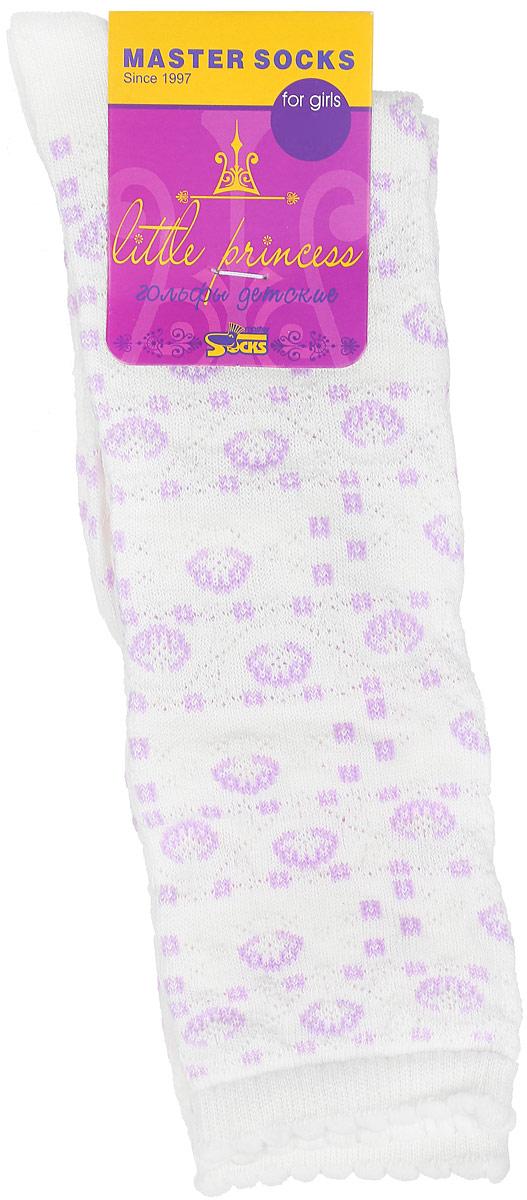 Гольфы для девочки Master Socks Little Princess, цвет: белый. 83000. Размер 2083000Гольфы для девочки Master Socks Little Princess выполнены из мягкого эластичного материала. Изделие приятное на ощупь, хорошо пропускает воздух. Эластичная резинка с фигурным краем мягко облегает ножку ребенка, создавая удобство и комфорт. Усиленные пятка и мысок обеспечивают надежность и долговечность. Гольфы оформлены красивыми рельефными рисунками. Гольфы станут отличным дополнением к гардеробу маленькой модницы! Уважаемые клиенты!Размер, доступный для заказа, является длиной стопы.
