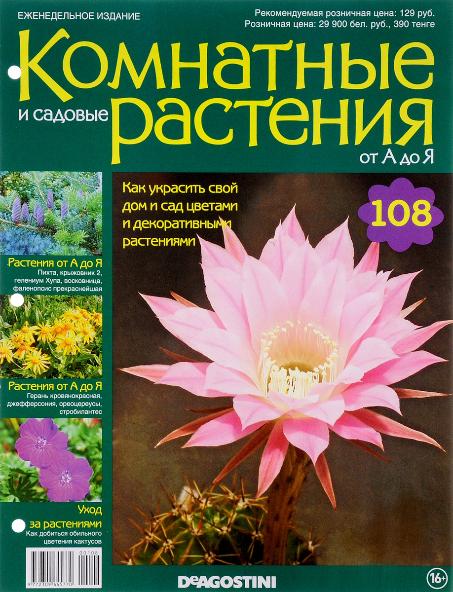 Журнал Комнатные и садовые растения. От А до Я №108 год до школы от а до я тетрадь по подготовке к школе