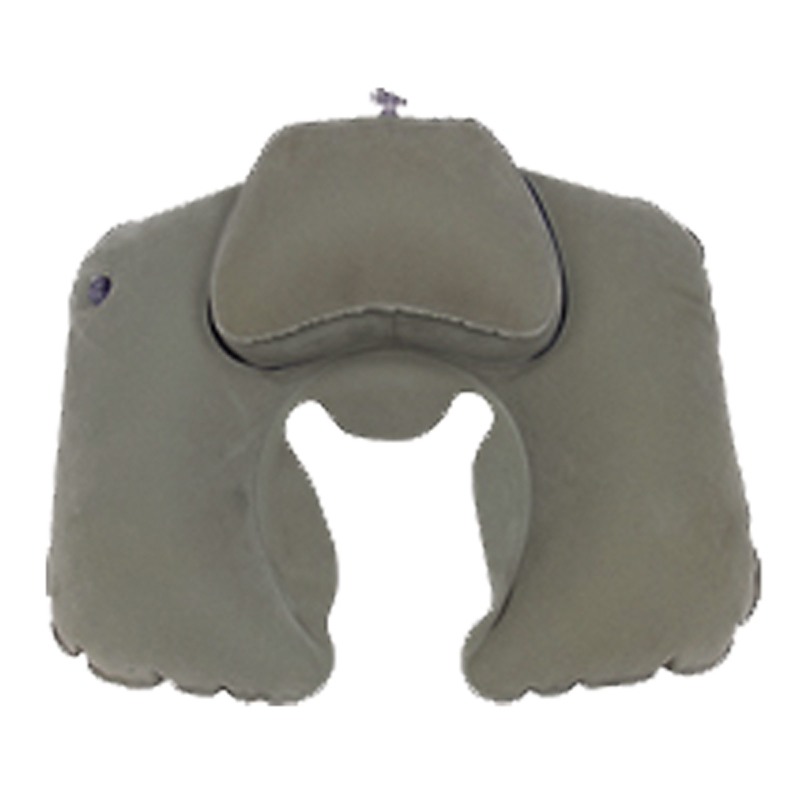 """Подушка надувная Sol """"Комфорт"""", под шею, цвет: серый. SLI-012"""