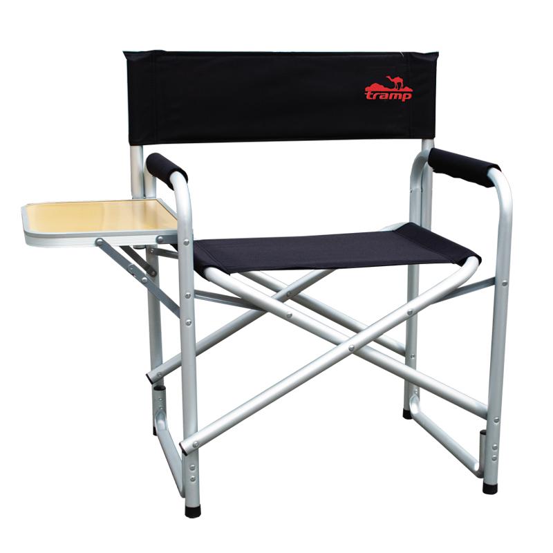 Кресло складное Tramp со столом, цвет: черный, металлик, 120 кг. TRF-002 стул tramp black trf 002