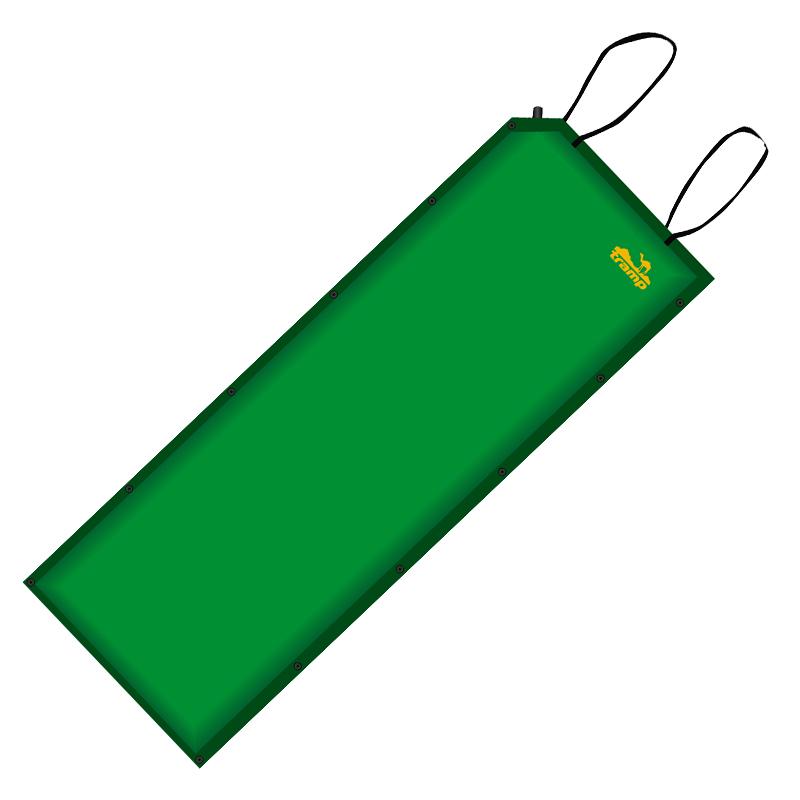 Коврик самонадувающийся Tramp, цвет: зеленый, 188 х 66 х 5 см. TRI-004TRI-004Коврик самонадувающийся Tramp мягкий, комфортный, так же он имеет прекрасную термоизоляцию. На самонадувающимся коврике вы вряд ли прочувствуете неровности земли под палаткой, вам ничего не будет давить в бока во время сна. Самонадувающийся коврик идеально подойдет для кемпингового отдыха, водного похода, дачи или рыбалки, в общем, для любого вида отдыха, где не надо долго нести рюкзак на себе. Так же самонадувающийся коврик может послужить отличным матрасом для гостей или теплой подстилкой для игры ребенка на полу в квартире или доме. Коврик имеет чехол и стягивающие ремни. Снабжен кнопками с обеих сторон для состегивания с другими ковриками. Внутренняя структура: вертикальные каналы. Внимание! Не используйте насос для надувания коврика. Храните коврик в просушенном виде. Коврик не предназначен для использования на воде или в качестве спасительно средства. Берегите коврик от огня, острых предметов и домашних животных.Размер: 188 х 65 х 5 см.Вес: 1,9 кг.Допустимая нагрузка: до 130 кг.