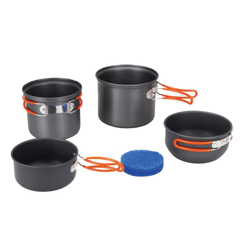 Набор походной посуды Tramp, 5 предметов, цвет: серый. TRC-075 бутылка алюминиевая в чехле tramp цвет красный черный 1 л trc 032