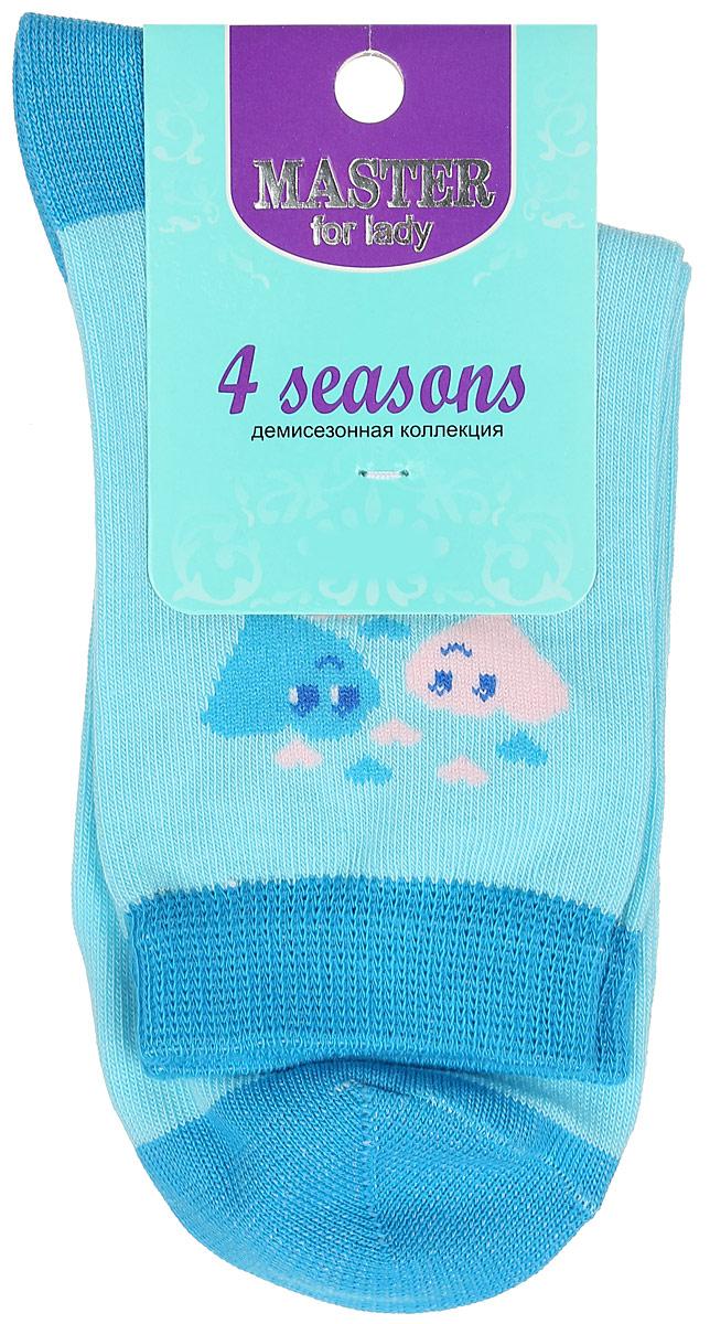 Носки женские Master Socks, цвет: голубой. 55003. Размер 2355003Удобные носки Master Socks, изготовленные из высококачественного комбинированного материала, очень мягкие и приятные на ощупь, позволяют коже дышать. Эластичная резинка плотно облегает ногу, не сдавливая ее, обеспечивая комфорт и удобство. Носки с паголенком классической длины оформлены оригинальным рисунком в виде сердец. Практичные и комфортные носки великолепно подойдут к любой вашей обуви.