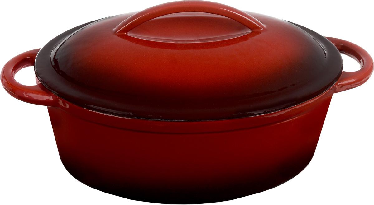 Кастрюля чугунная Mayer & Boch с крышкой, с эмалевым покрытием, 4,4 л22056Кастрюля Mayer & Boch, изготовленная из чугуна, идеально подходит для приготовления вкусных тушеных блюд. Изделие имеет внешнее и внутреннее эмалированное покрытие. Чугун является традиционным высокопрочным, экологически чистым материалом. Причем, чем дольше и чаще вы пользуетесь этой посудой, тем лучше становятся ее свойства. Высокая теплоемкость чугуна позволяет ему сильно нагреваться и медленно остывать, а это, в свою очередь, обеспечивает равномерное приготовление пищи. Чугун не вступает в какие-либо химические реакции с пищей в процессе приготовления и хранения, а плотное покрытие - безупречное препятствие для бактерий и запахов. Пища, приготовленная в чугунной посуде, благодаря экологической чистоте материала, не может нанести вред здоровью человека. Кастрюля оснащена двумя удобными ручками. Крышка также изготовлена из чугуна. Она плотно прилегает к краю посуды, сохраняя аромат блюд. Посуду можно использовать на всех типах плит, включая индукционные, а также в духовке. Можно мыть в посудомоечной машине и хранить в холодильнике. Размер кастрюли (по верхнему краю): 30,5 х 23 см. Высота стенки: 12 см. Ширина (с учетом ручек): 38 см. Размер дна: 24 х 16,5 см.