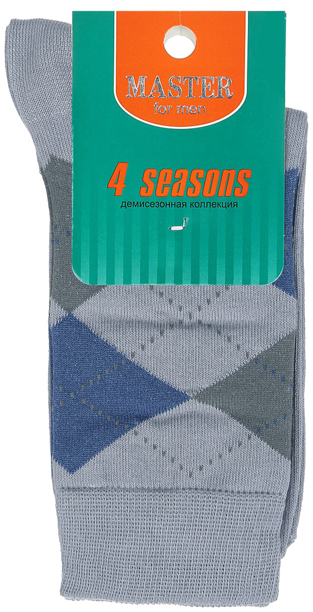 Носки мужские Master Socks, цвет: светло-серый. 58032. Размер 2558032Удобные носки Master Socks, изготовленные из высококачественного комбинированного материала, очень мягкие и приятные на ощупь, позволяют коже дышать. Эластичная резинка плотно облегает ногу, не сдавливая ее, обеспечивая комфорт и удобство. Носки с паголенком классической длины оформлены орнаментом в ромбик. Практичные и комфортные носки великолепно подойдут к любой вашей обуви.