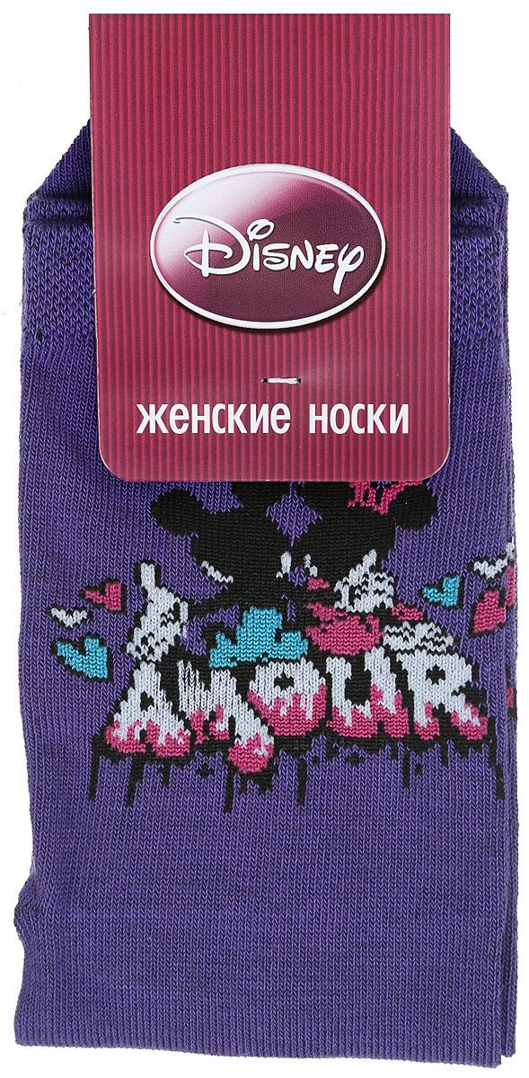 Носки женские Master Socks, цвет: сиреневый. 15101. Размер 2515101Удобные носки Master Socks, изготовленные из высококачественного комбинированного материала, очень мягкие и приятные на ощупь, позволяют коже дышать.Эластичная резинка плотно облегает ногу, не сдавливая ее, обеспечивая комфорт и удобство. Носки оформлены принтом с изображением героев мультфильма.Практичные и комфортные носки великолепно подойдут к любой вашей обуви.