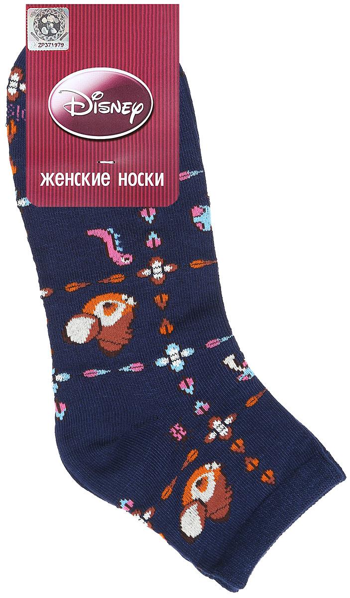 Носки женские Master Socks, цвет: темно-синий. 15861. Размер 2315861Удобные укороченные носки Master Socks, изготовленные из высококачественного комбинированного материала, очень мягкие и приятные на ощупь, позволяют коже дышать.Эластичная резинка плотно облегает ногу, не сдавливая ее, обеспечивая комфорт и удобство. Носки оформлены принтом с изображением героев мультфильма.Практичные и комфортные носки великолепно подойдут к любой вашей обуви.
