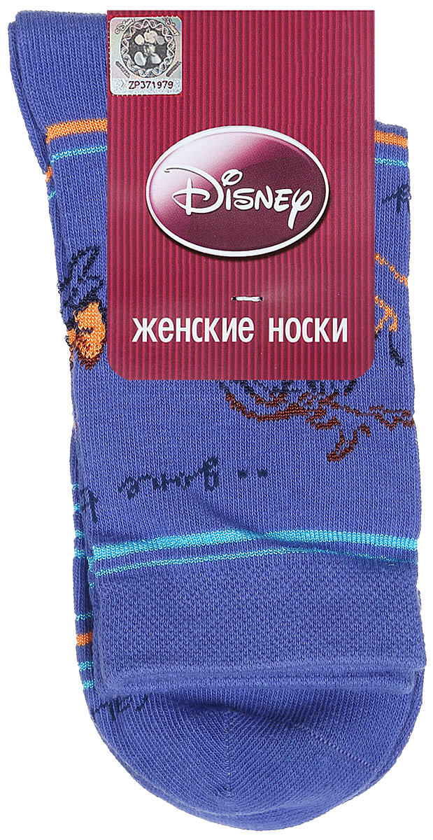 Носки женские Master Socks, цвет: голубой. 15100. Размер 2515100Удобные носки Master Socks, изготовленные из высококачественного комбинированного материала, очень мягкие и приятные на ощупь, позволяют коже дышать.Эластичная резинка плотно облегает ногу, не сдавливая ее, обеспечивая комфорт и удобство. Носки оформлены принтом с изображением героев мультфильма.Практичные и комфортные носки великолепно подойдут к любой вашей обуви.
