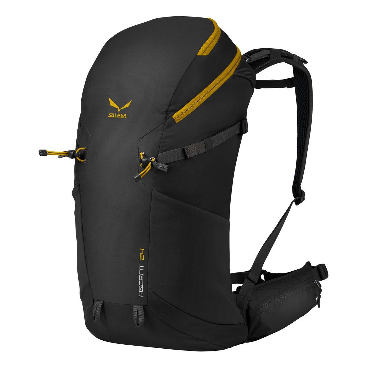 Рюкзак туристический Salewa Ascent 24, цвет: черный, 24 л1120_0900Новая современная модель рюкзака Salewa Ascent 24, которая прекрасно подойдет как для однодневных так и для более длительных путешествий.Особенности:- петли для крепления ледоруба / лыжных палок- внутреннее отделение для хранения ценных вещей- боковые карманы- карман в набедренном поясе- петли для навески дополнительного снаряжения на набедренном поясе- подвесная система motionfit