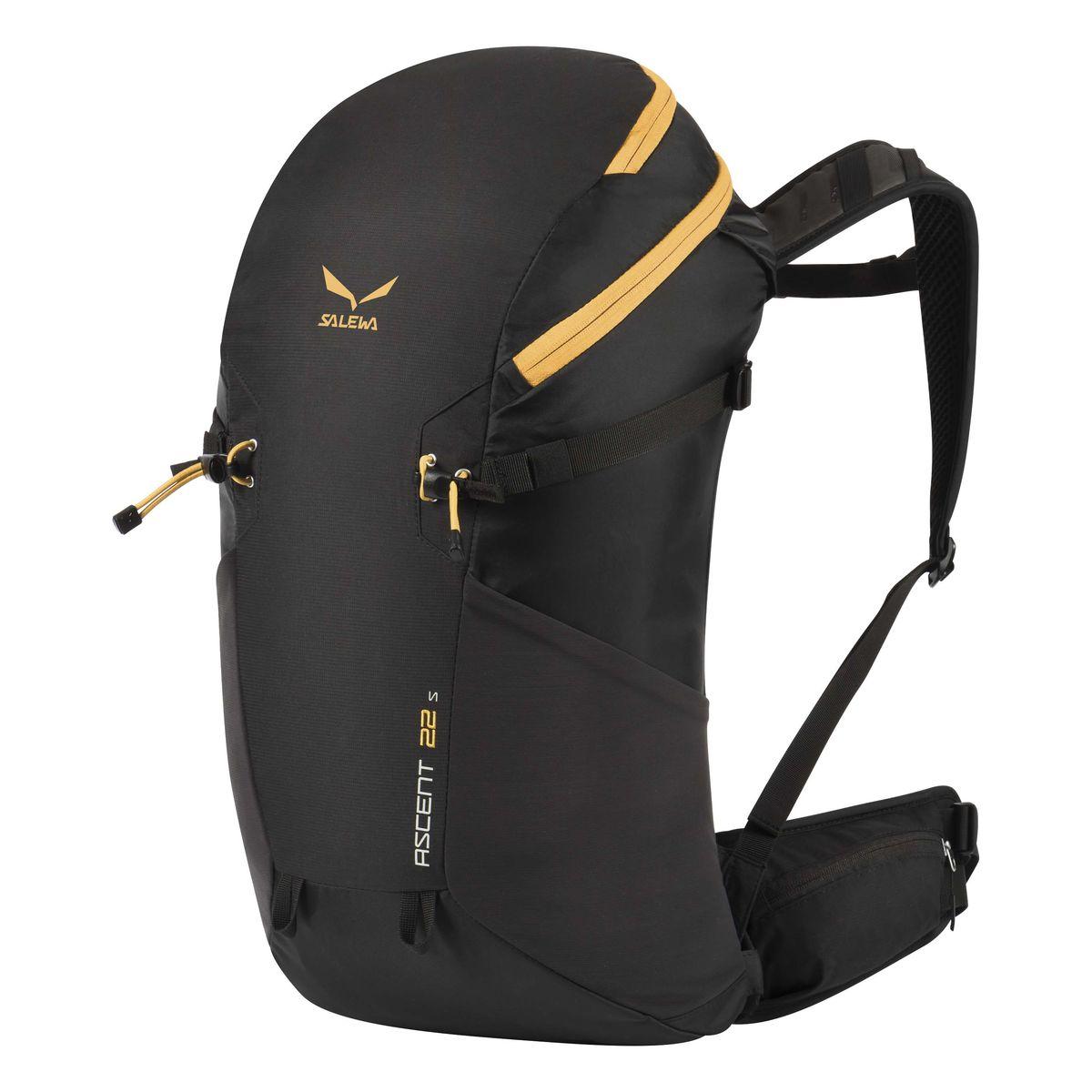 Рюкзак туристический Salewa Ascent 22s, цвет: черный, 22 л1153_0900Новая современная модель рюкзака Salewa Ascent 22s, которая прекрасно подойдет как для однодневных так и для более длительных путешествий.Особенности:- петли для крепления ледоруба / лыжных палок- внутреннее отделение для хранения ценных вещей- боковые карманы- карман в набедренном поясе- петли для навески дополнительного снаряжения на набедренном поясе- подвесная система motionfit
