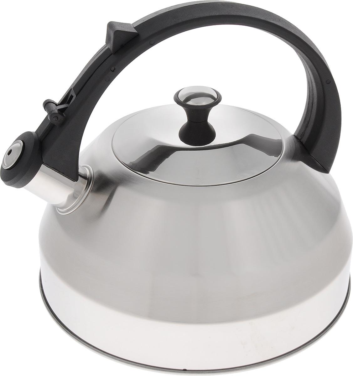 Чайник Mayer & Boch, со свистком, 3 л. 2163721637Чайник Mayer & Boch изготовлен из высококачественной нержавеющей стали, что делает его весьма гигиеничным и устойчивым к износу при длительном использовании. Капсулированное дно обеспечивает равномерный и быстрый нагрев, поэтому вода закипает гораздо быстрее, чем в обычных чайниках. Чайник оснащен откидным свистком, звуковой сигнал которого подскажет, когда закипит вода. Фиксированная пластиковая ручка дает дополнительное удобство при разлитии напитка. Чайник Mayer & Boch идеально впишется в интерьер любой кухни и станет замечательным подарком к любому случаю. Подходит для всех типов плит, включая индукционные. Можно мыть в посудомоечной машине. Высота чайника (без учета ручки и крышки): 12 см.Высота чайника (с учетом ручки и крышки): 22 см.Диаметр чайника (по верхнему краю): 12 см.