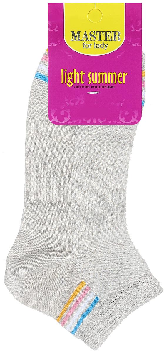 Носки женские Master Socks, цвет: бежевый. 55054. Размер 2355054Удобные носки Master Socks, изготовленные из высококачественного комбинированного материала, очень мягкие и приятные на ощупь, позволяют коже дышать. Эластичная резинка плотно облегает ногу, не сдавливая ее, обеспечивая комфорт и удобство. Носки с укороченным паголенком оформлены яркими полосками в нижней и верхней частях носка. Удобные и комфортные носки великолепно подойдут к любой вашей обуви.