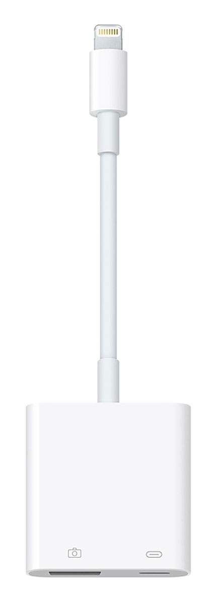 Apple Lightning/USB 3 USB-адаптер для подключения камеры адаптер apple lightning usb 3 для подключения камеры mk0w2zm a