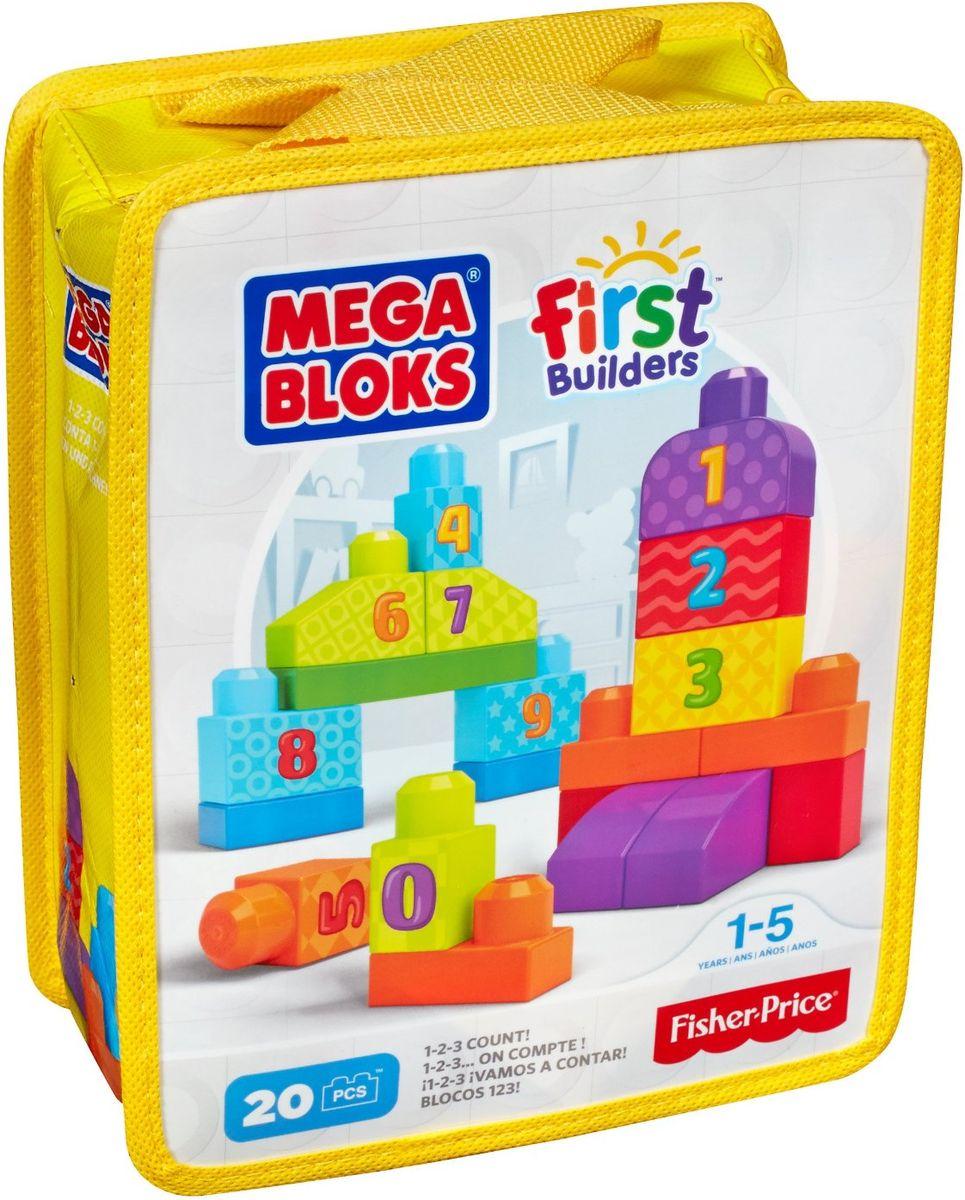 Mega Bloks First Builders Конструктор Строй и учись считать mattel first builders