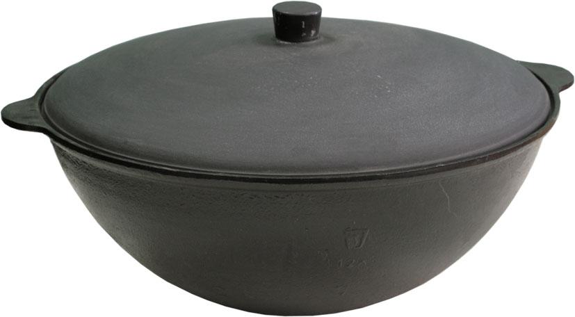 Чаша азиатская чугунная Балезино, с крышкой, 18 л917Азиатская чаша Балезино изготовлена из качественного литого чугуна и снабжена алюминиевой крышкой. В ней можно приготовить много самых разнообразнейших блюд восточной кухни, но, наверное, самое известное и распространенное блюдо, которое приготавливается в казане, это любимый многими плов.Чугунный казан хорош тем, что блюда в нем никогда не пригорают. Чугун при нагревании обеспечивает лучшее распределение тепла, даже при сравнении с современными материалами. И это его свойство позволяет приготовить вкусные блюда отменного качества. Еще одной важной особенностью чугунной чаши является то, что ее толстые стенки позволяют приготовленному блюду долго оставаться теплым.Можно использовать как на природе, так и в домашних условиях. Подходит для всех типов плит.