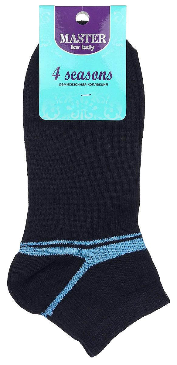 Носки женские Master Socks, цвет: темно-синий, голубой. 55903. Размер 2555903