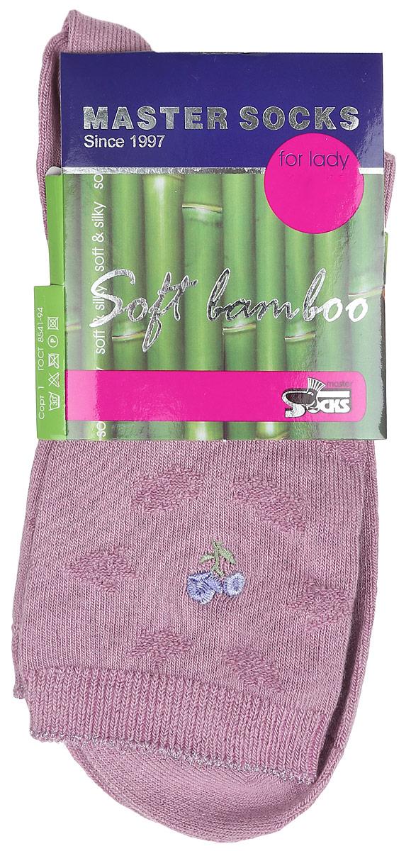Носки женские Master Socks, цвет: розовый. 85608. Размер 2385608Удобные носки Master Socks, изготовленные из высококачественного комбинированного материала, очень мягкие и приятные на ощупь, позволяют коже дышать.Эластичная резинка плотно облегает ногу, не сдавливая ее, обеспечивая комфорт и удобство. Носки дополнены полупрозрачным орнаментом и оформлены вышивкой в виде цветка.Практичные и комфортные носки великолепно подойдут к любой вашей обуви.