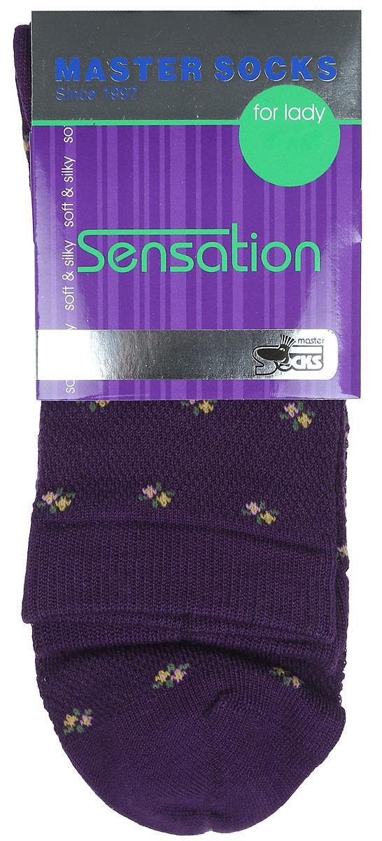 Носки женские Master Socks, цвет: фиолетовый. 85702. Размер 2585702Удобные носки Master Socks, изготовленные из высококачественного комбинированного материала, очень мягкие и приятные на ощупь, позволяют коже дышать.Эластичная резинка плотно облегает ногу, не сдавливая ее, обеспечивая комфорт и удобство. Носки цветочным орнаментом и дополнены перфорацией.Практичные и комфортные носки великолепно подойдут к любой вашей обуви.