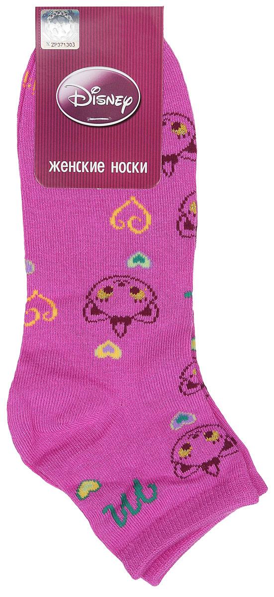 Носки женские Master Socks, цвет: розовый. 15861. Размер 2515861Удобные укороченные носки Master Socks, изготовленные из высококачественного комбинированного материала, очень мягкие и приятные на ощупь, позволяют коже дышать.Эластичная резинка плотно облегает ногу, не сдавливая ее, обеспечивая комфорт и удобство. Носки оформлены принтом с изображением героев мультфильма.Практичные и комфортные носки великолепно подойдут к любой вашей обуви.