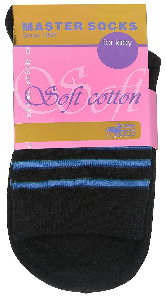 Носки женские Master Socks, цвет: черный. 85010. Размер 2385010Удобные носки Master Socks, изготовленные из высококачественного комбинированного материала, очень мягкие и приятные на ощупь, позволяют коже дышать.Эластичная резинка плотно облегает ногу, не сдавливая ее, обеспечивая комфорт и удобство. Модель с стандартным паголенком оформлена оригинальным принтом.Удобные и комфортные носки великолепно подойдут к любой вашей обуви.