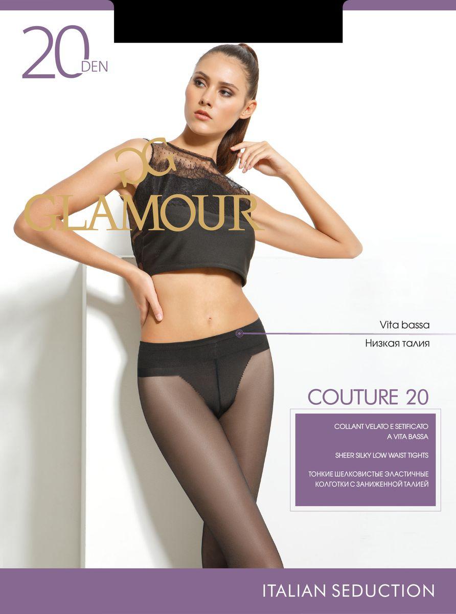 Колготки женские Glamour Couture 20, цвет: Nero (черный). 27963. Размер 2 (42/44)27963Стильные классические колготки Glamour Couture 20, изготовленные из эластичного полиамида, идеально дополнят ваш образ и превосходно подойдут к любым платьям и юбкам.Тонкие шелковистые колготки с заниженной талией легко тянутся, что делает их комфортными в носке. Гладкие и мягкие на ощупь, они имеют комфортный широкий пояс, гигиеническую ластовицу и укрепленный прозрачный мысок. Идеальное облегание и комфорт гарантированы при каждом движении.Плотность: 20 den.