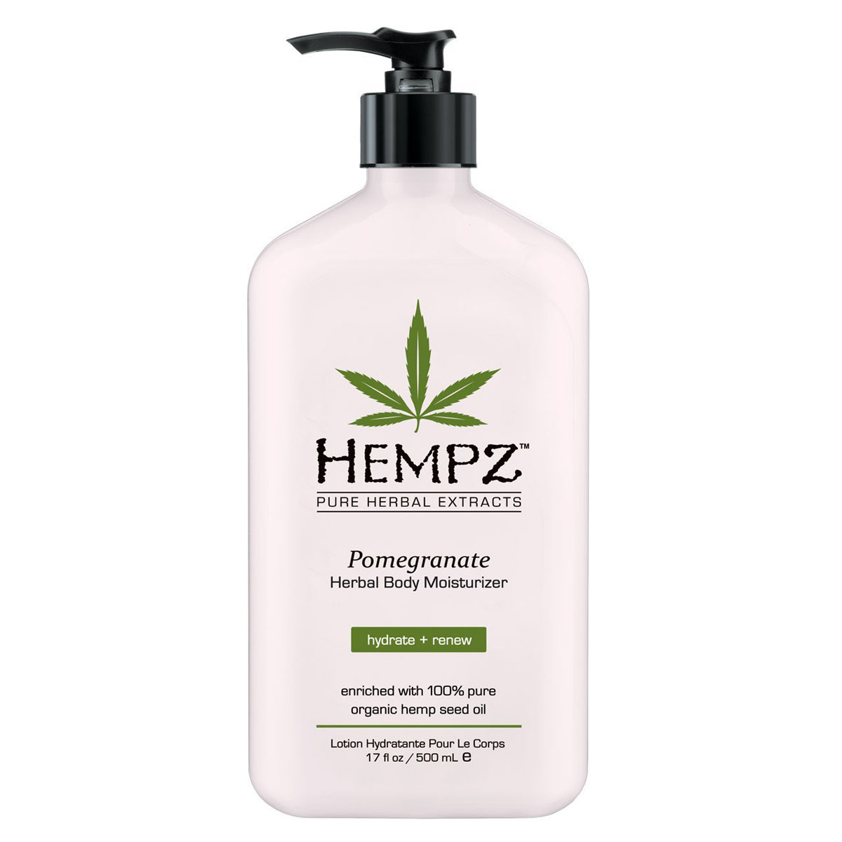 Hempz Молочко для тела увлажняющее с ганатом Pomegranate Herbal Body Moistyrizer 500 мл hempz гель для душа с ганатом pomegranate body wash 250 мл