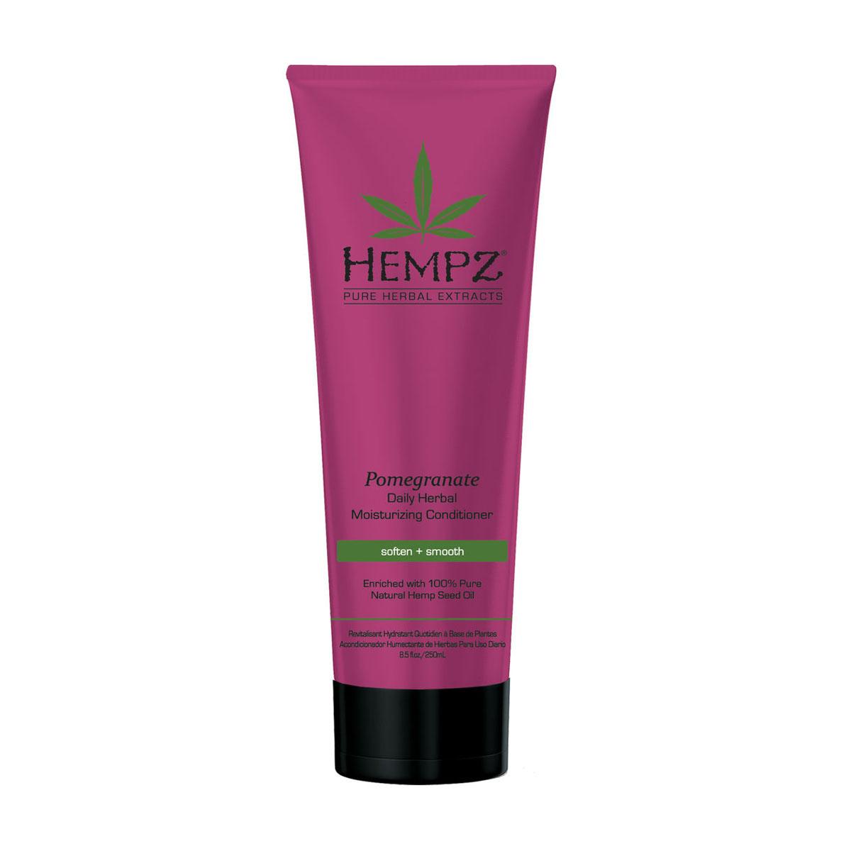 Hempz Кондиционер растительный увлажняющий и разглаживающий ганат Daily Herbal Moisturizing Pomegranate Conditioner 265 мл hempz гель для душа с ганатом pomegranate body wash 250 мл