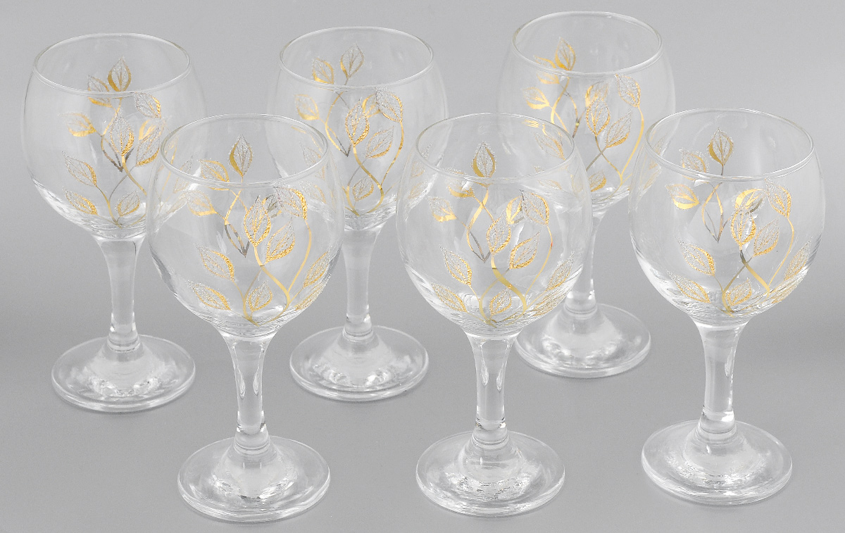 Набор бокалов для вина Мусатов Осень, 260 мл, 6 шт411/08Набор бокалов для вина Мусатов Осень изготовлен из натрий-кальций-силикатного стекла. Набор состоит из 6 бокалов, выполненных в элегантном дизайне. Набор предназначен для подачи вина. Набор бокалов Мусатов Осень прекрасно оформит праздничный стол и создаст приятную атмосферу за романтическим ужином. Такой набор также станет хорошим подарком к любому случаю.Можно мыть в посудомоечной машине.Диаметр бокала (по верхнему краю): 6,5 см. Высота бокала: 16 см. Диаметр основания бокала: 6 см.