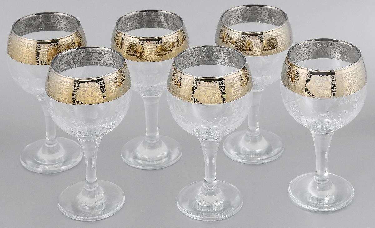 Набор бокалов для вина Мусатов Венеция, 260 мл, 6 шт giftman набор бокалов для молодоженов нежность 21 см авторская работа белый