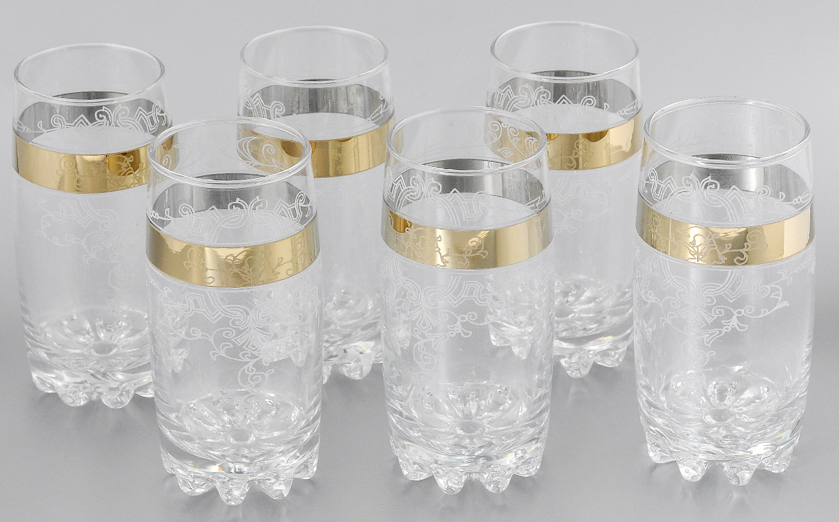 Набор стаканов для коктейлей Мусатов Бьюти, 390 мл, 6 шт812/05Набор стаканов для коктейлей Мусатов Бьюти изготовлен из натрий-кальций-силикатного стекла. Набор состоит из 6 стаканов, выполненных в элегантном дизайне. Такие стаканы украсят любой праздничный стол.Набор стаканов для коктейлей может стать отличным подарком к любому празднику. Можно мыть в посудомоечной машине.Диаметр стакана по верхнему краю: 6 см.Высота стакана: 14,5 см.