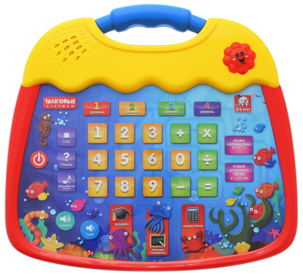 S+S Toys Интерактивный планшет Веселые цифры детские компьютеры s s обучающий интерактивный планшет живой календарь
