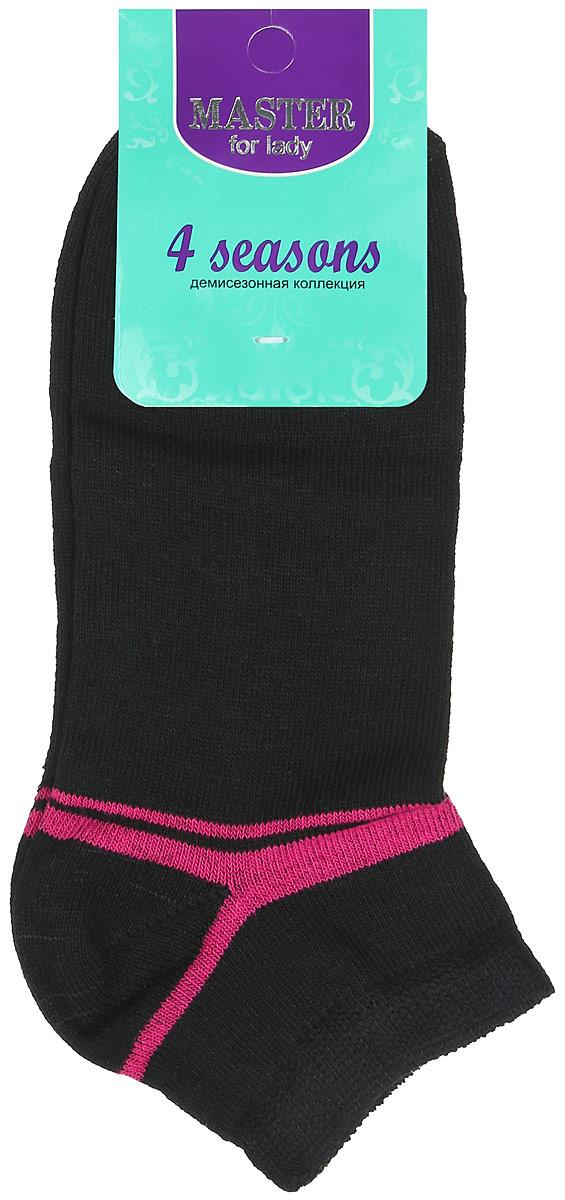 Носки женские Master Socks, цвет: черный, розовый. 55903. Размер 2555903