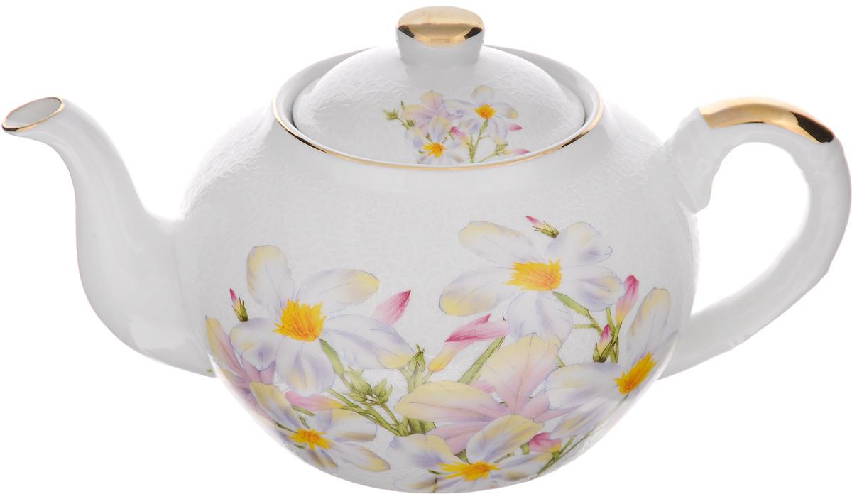 Чайник заварочный Loraine, с фильтром, 1 л. 2112321123Заварочный чайник Loraine изготовлен из высококачественной керамики и оснащен металлическим фильтром. Он поможет вам в приготовлении вкусного и ароматного чая, а также станет украшением вашей кухни.Яркий рисунок придает чайнику особый шарм, он удобен в использовании и понравится каждому. Такой заварочный чайник станет приятным и практичным подарком на любой праздник.Чайник упакован в подарочную коробку. Диаметр по верхнему краю: 9 см. Диаметр основания: 9,5 см. Высота чайника (с учетом крышки): 11,5 см. Высота чайника (без учета крышки): 10 см. Высота фильтра: 5 см.