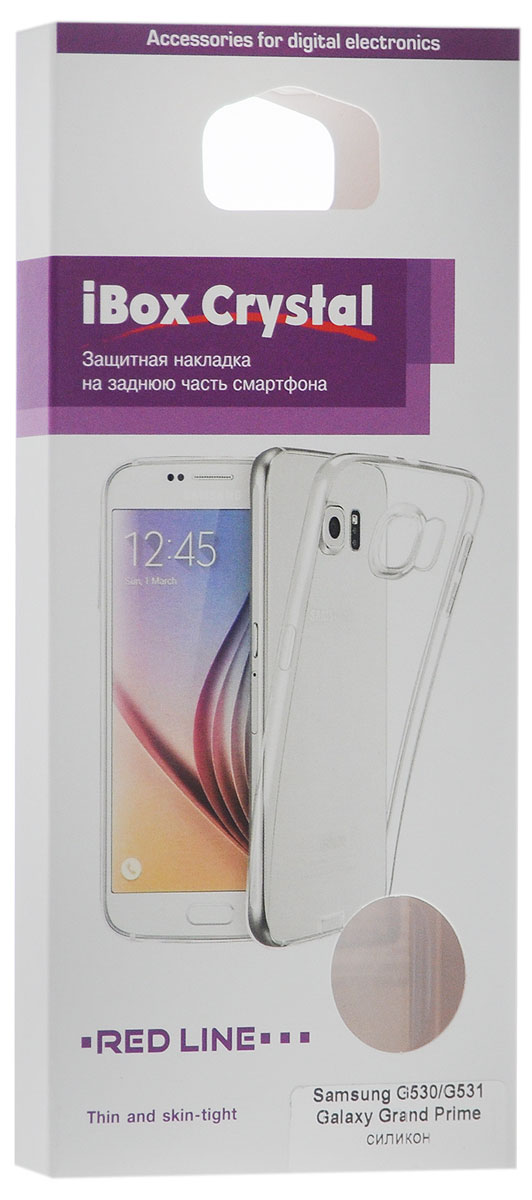 Red Line iBox Crystalчехол для Samsung G530/G531 Galaxy Grand Prime, Clear Red Line