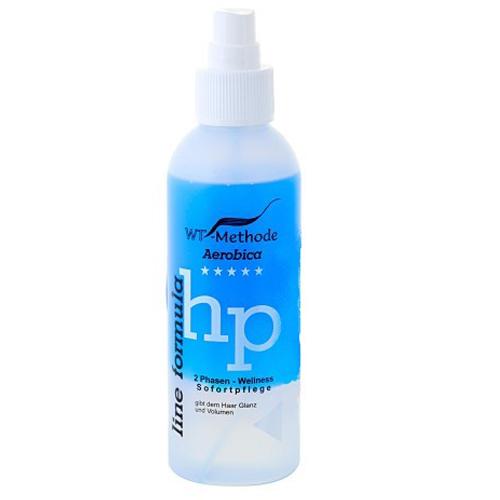 WT-Methode Аэробика средство для волос Aerobica 150 млWTM-PLF-137Aerobica – это уникальный двухфазный уход, разработанный специально для пористых, сухих и перманентно завитых волос. Препарат способен за считанные секунды придать волосам естественный блеск и объём. В первой фазе содержатся вещества, способные мгновенно выровнять структуру и нормализовать баланс влажности повреждённых или пористых участков волос. Вещества второй фазы необходимы для сглаживания поверхности волоса и создания исключительного блеска. Результат – ухоженные, мягкие и блестящие волосы, которые легко расчёсывать.Применение: перед нанесением на волосы флакон необходимо тщательно взболтать.