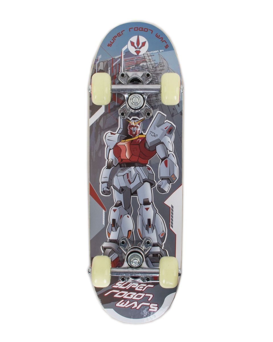 Скейтборд Larsen Junior 1, цвет: серый, голубой, дека 51 х 15 см