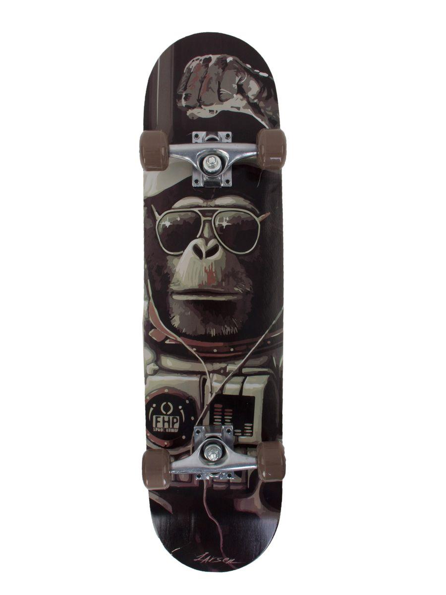 "Скейтборд Larsen ""Park 2"", цвет: черный, серый, дека 79 х 20 см"