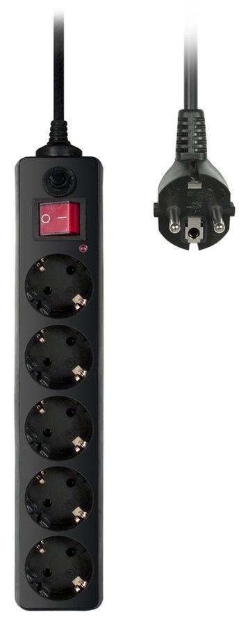 Сетевой фильтр Buro 500SH-3-B (5 розеток), Black500SH-3-B