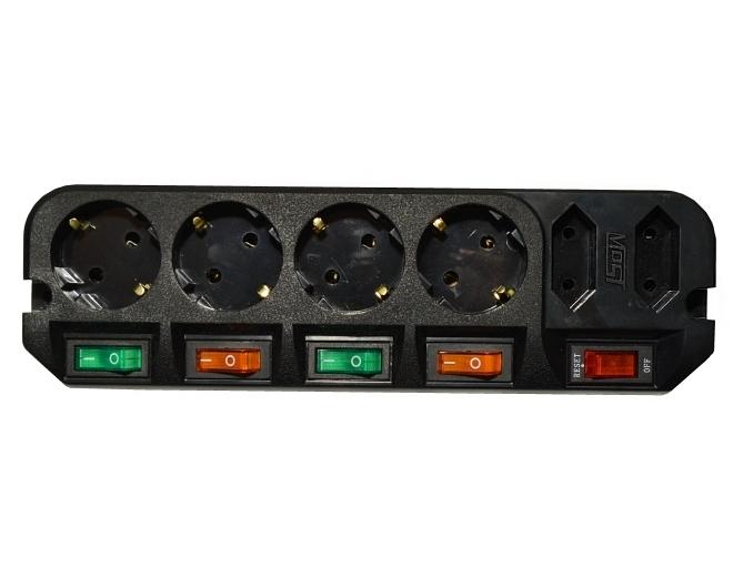 Сетевой фильтр Most ARG (6 розеток), Black