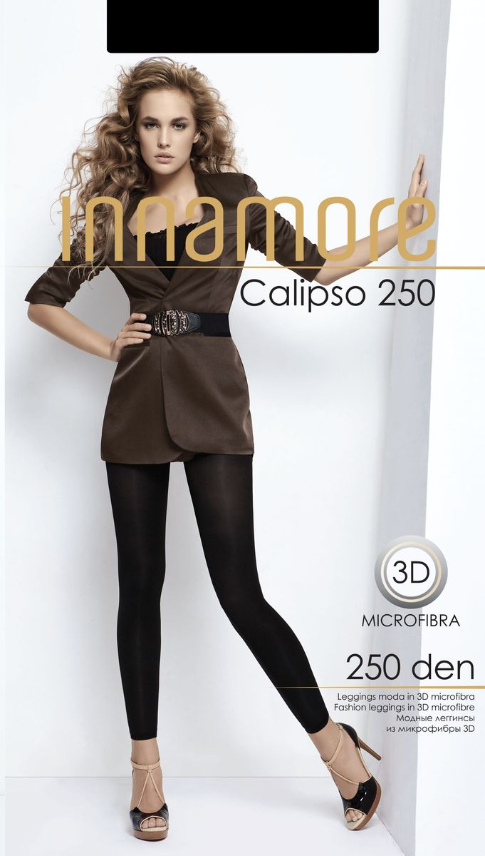 Леггинсы женские Innamore 250, цвет: черный. 13281. Размер 3 (44/46)13281Плотные комфортные леггинсы Innamore изготовлены из высококачественного полиамида с добавлением эластана.Модель дополнена широким поясом и гигиенической ластовицей.