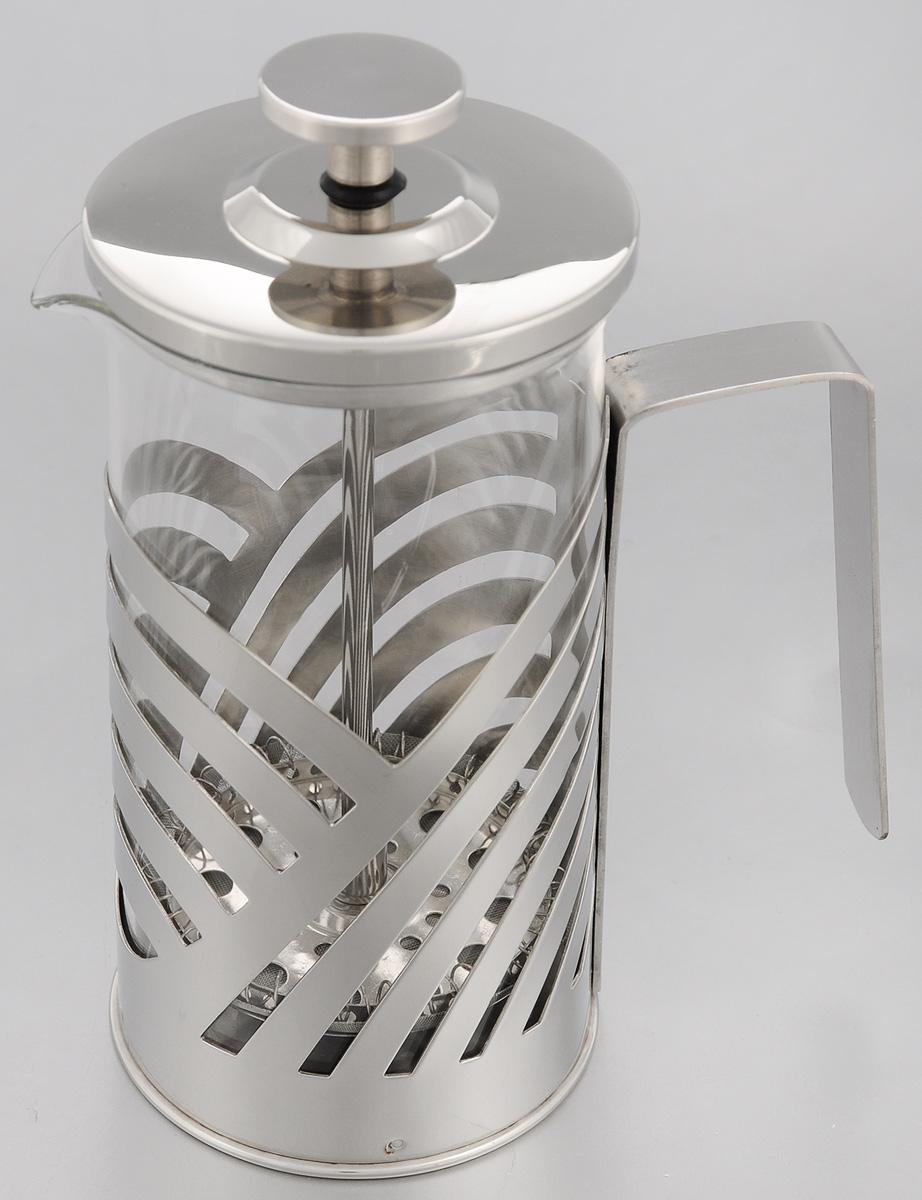 Френч-пресс Mayer & Boch, 350 мл. 2322023220Френч-пресс Mayer & Boch позволит быстро и просто приготовить свежий и ароматный чай иликофе. Корпус изготовлен из высококачественного жаропрочного стекла, устойчивого кокрашиванию, царапинам и термошоку. Фильтр-поршень из нержавеющей стали выполнен потехнологии press-up для обеспечения равномерной циркуляции воды.Готовить напитки с помощью френч-пресса очень просто. Насыпьте внутрь заварку и залейтекипятком. Остановить процесс заваривания легко. Для этого нужно просто опустить поршень, изаварка уйдет вниз, оставляя вверху напиток, готовый к употреблению.Заварочный чайник с прессом - это совершенный чайник для ежедневного использования.Практичный и стильный дизайн полностью соответствует последним модным тенденциям всоздании предметов кухонной утвари. Можно мыть в посудомоечной машине. Диаметр (по верхнему краю): 7 см.Высота (с учетом крышки): 17 см. Диаметр основания: 7 см.