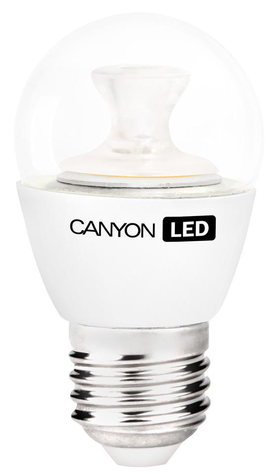 Лампа светодиодная Canyon LED PE27CL3.3W230VNPE27CL3.3W230VNCANYON LED P45 E27 3.3W 220V 4000KМаленькая лампочка шаровидной формы имеет компактные габариты и представлена с разным видами цоколя. Лампа излучает теплый свет и обеспечивает значительную экономию энергии, что минимизирует затраты на обслуживание. Доступна с матовой и прозрачной колбой