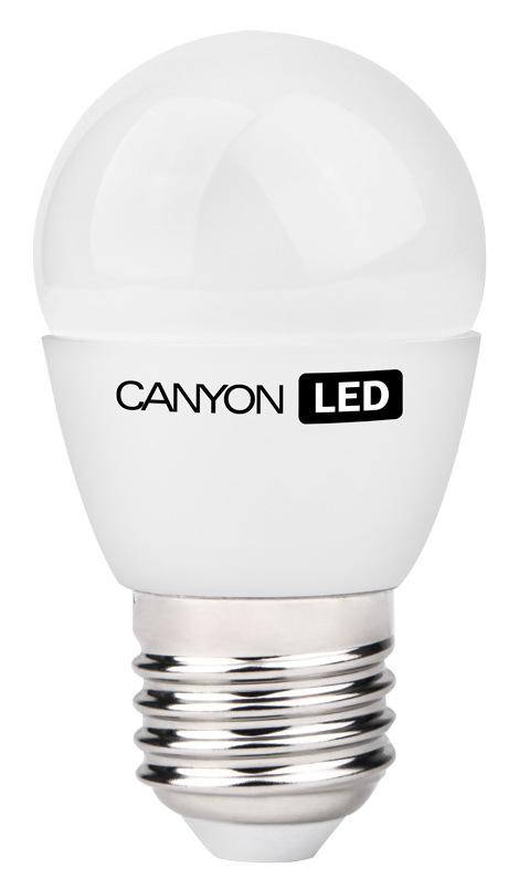 Лампа светодиодная Canyon, цоколь E27, 6W, 2700КPE27FR6W230VWЛампочка шаровидной формы Canyon имеет компактные габариты. Она излучает яркий свет и обеспечивает значительную экономию энергии, что минимизирует затраты на обслуживание.
