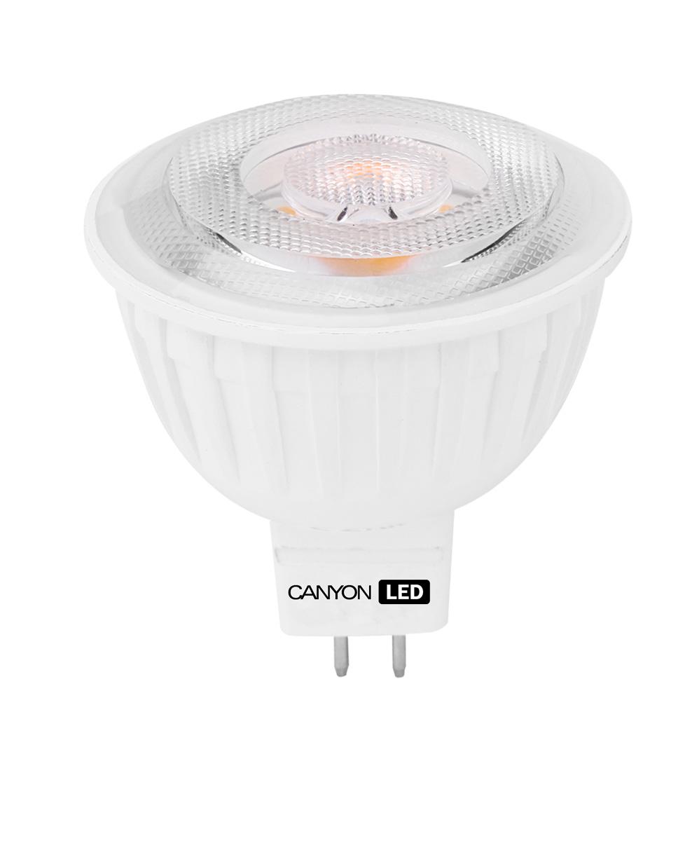 Лампа светодиодная Canyon, цоколь GU5.3, 4,8W, 4000КMRGU53/5W230VN60Светодиодная лампа Canyon идеально подходит для замены галогенных ламп в точечных светильниках. В отличие от последних, она не выделяет огромное количество тепла. Подходит для общего и направленного освещения с углом рассеивания 60° и 38° соответственно. Светодиодная лампа Canyon показывает объекты, не искажая истинные цвета, так что ваши шедевры сохранят изначальную цветовую гамму.