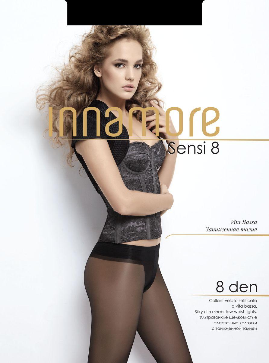 Колготки женские Innamore Sensi 8, цвет: Nero (черный). 26435. Размер 2 (42/44)26435Стильные классические колготки Innamore Sensi 8, изготовленные из эластичного полиамида, идеально дополнят ваш образ и превосходно подойдут к любым платьям и юбкам.Ультратонкие шелковистые колготки с заниженной талией и укрепленным верхом легко тянутся, что делает их комфортными в носке. Гладкие и мягкие на ощупь, они имеют комфортный мягкий пояс, анатомическую ластовицу и укрепленный прозрачный мысок. Идеальное облегание и комфорт гарантированы при каждом движении.Плотность: 8 den.