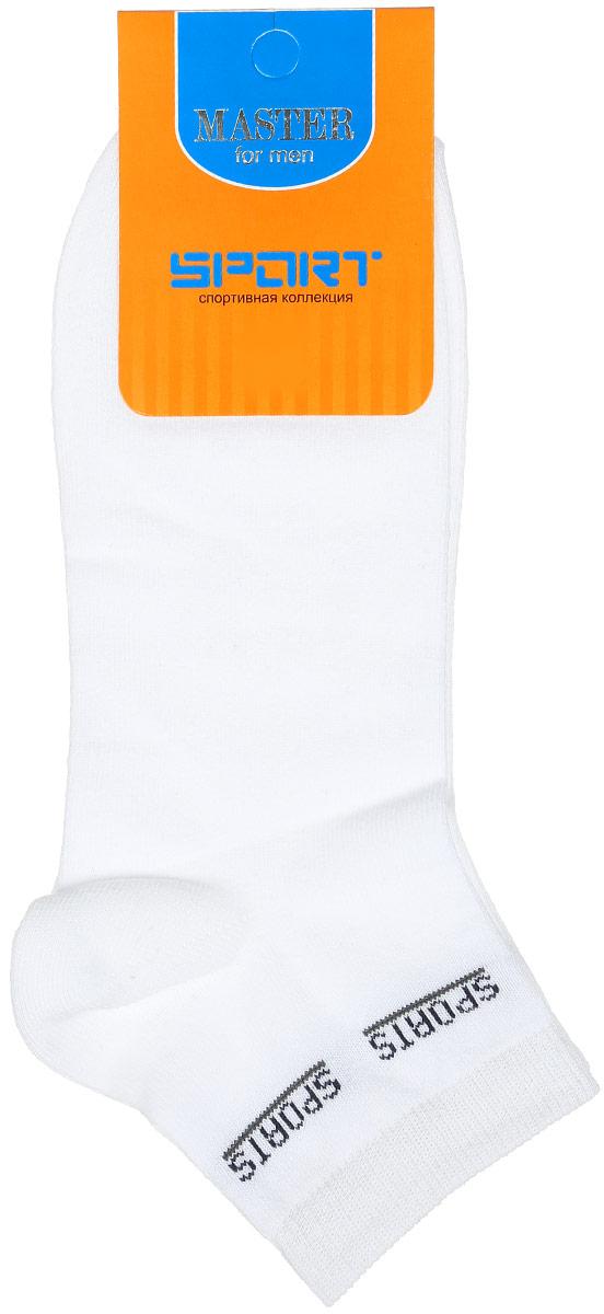 Носки мужские Master Socks, цвет: белый. 58908. Размер 2558908Удобные носки Master Socks, изготовленные из высококачественного комбинированного материала, очень мягкие и приятные на ощупь, позволяют коже дышать. Эластичная резинка плотно облегает ногу, не сдавливая ее, обеспечивая комфорт и удобство. Носки с укороченным паголенком и надписью Sports на верхней части носка. Удобные и комфортные носки великолепно подойдут к любой вашей обуви.