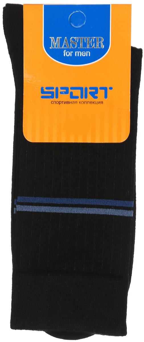 Носки мужские Master Socks, цвет: черный. 58902. Размер 2558902Удобные носки Master Socks, изготовленные из высококачественного комбинированного материала, очень мягкие и приятные на ощупь, позволяют коже дышать. Эластичная резинка плотно облегает ногу, не сдавливая ее, обеспечивая комфорт и удобство. Носки с паголенком классической длины оформлены двумя полосками контрастного цвета в верхней части носка. Практичные и комфортные носки великолепно подойдут к любой вашей обуви.