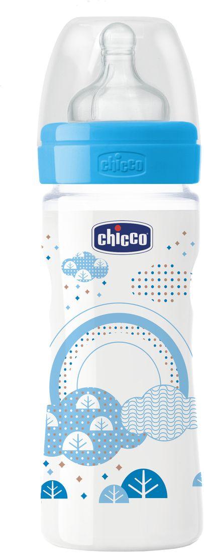 Chicco Бутылочка для кормления Well-Being Boy от 2 месяцев 250 мл цвет голубой